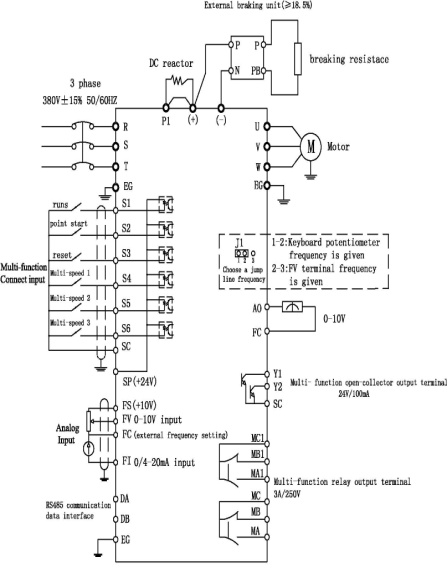 plc and pid control inverter product frequency inverter wiring diagram for compressor wiring diagram for a compressor #7